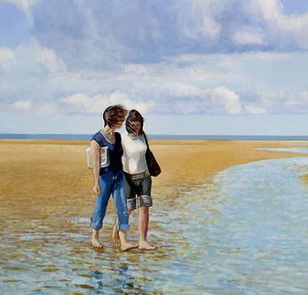 Conversation  -             Sold acrylic on canvas 70x60 cm