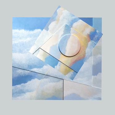 Halo  -                           Sold acrylic relief on board 65x55 cm