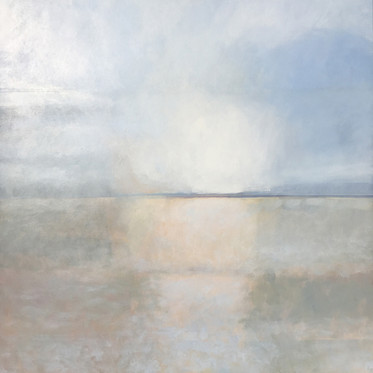 Winter Light acrylic on canvas 70x70 cm