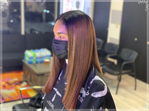 Double process and silk press by Jason