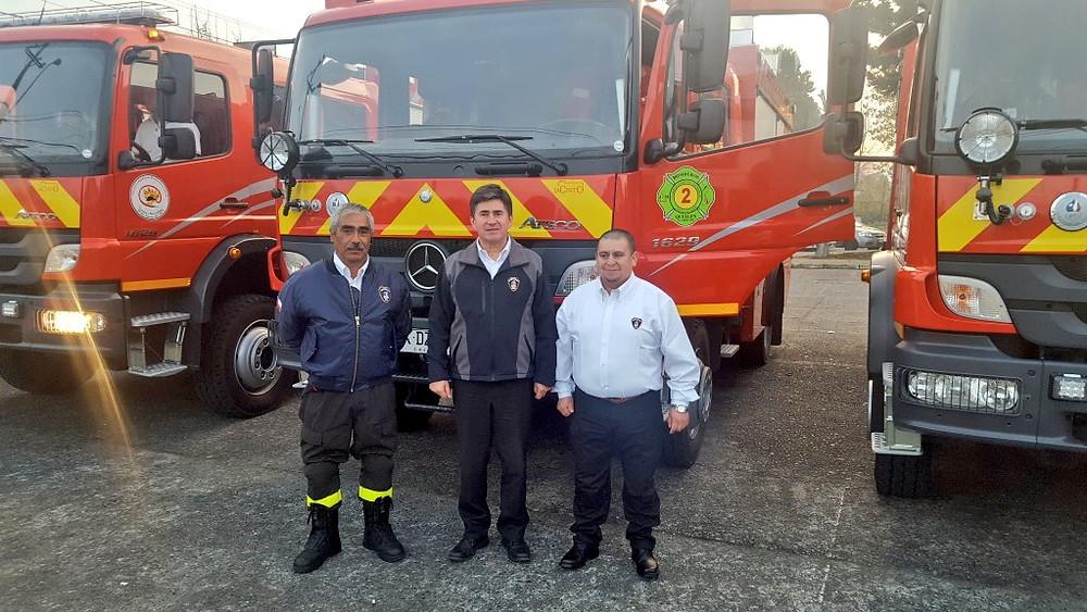 José Díaz, Christian Kuschel y Juan Aro