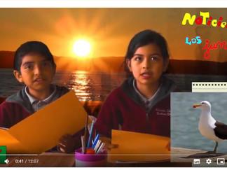 Alumnos de Tercero Básico de la Escuela Chilhué estrenan noticiero