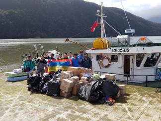 Queilinos envían 4 toneladas de ayuda a Villa Santa Lucía