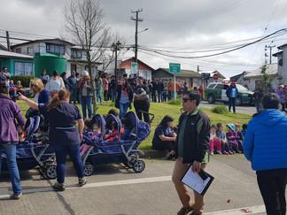 Queilinos participaron activamente en simulacro regional de sismo y tsunami