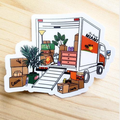 """""""Leaving Miami"""" Clear Sticker"""
