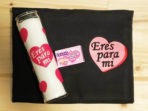 Eres Para Mi T-Shirt and Candle Bundle