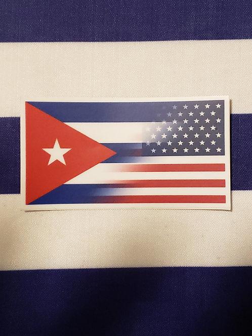 """Cuban American """"Flag"""" sticker"""