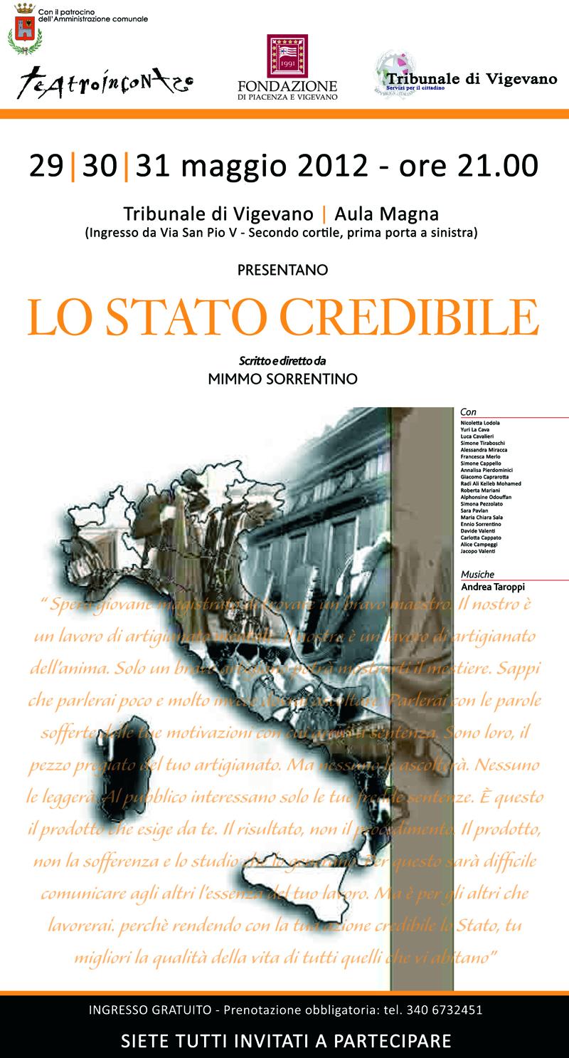 Lo stato credibile - locandina