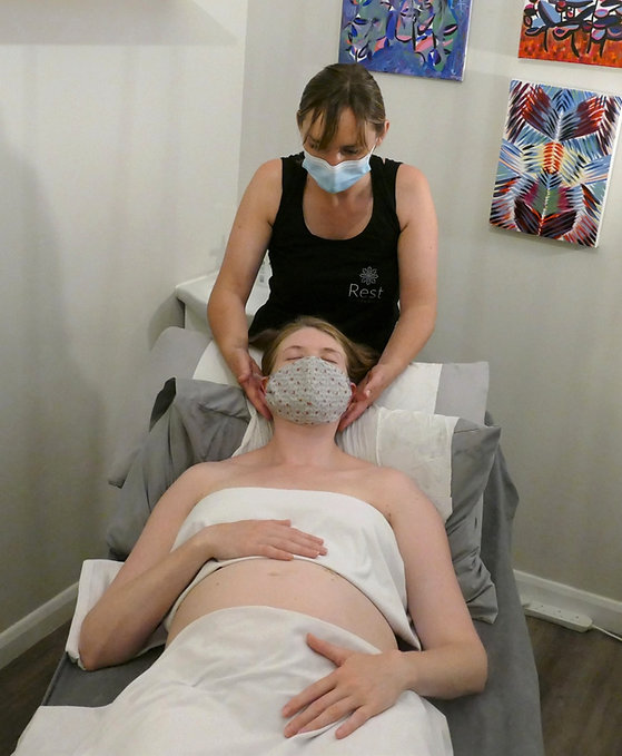 Pregnancy neck massag