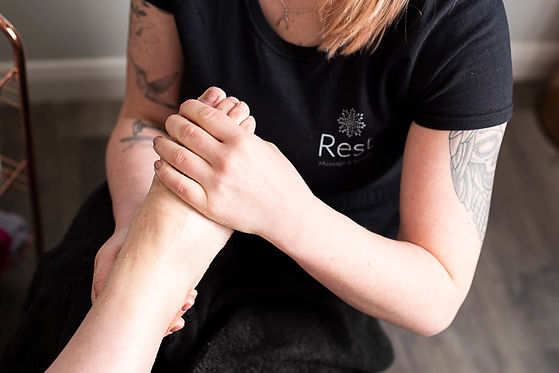 Pedicure and foot scrub