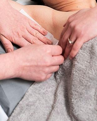 Underarm waxing