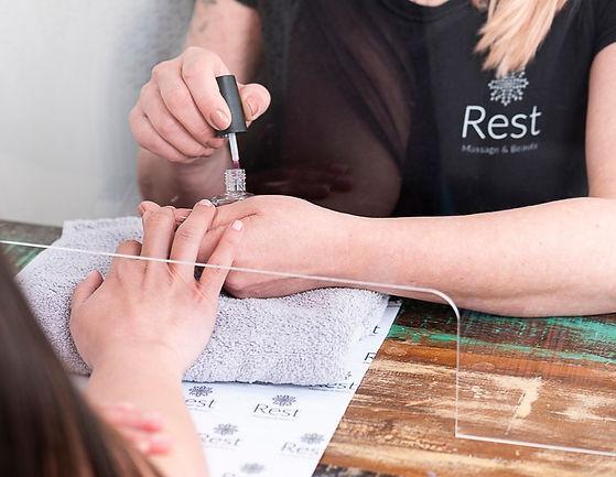 Manicure at Rest Salon