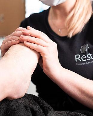 Pregnancy foot massage