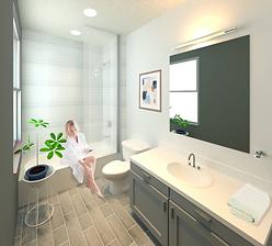 modern bathroom apartments downtown charleston, wv