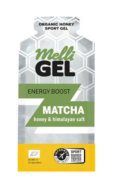 MelliGel Matcha Organic Honey Sport Gel