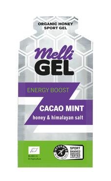 MelliGel Cacao Mint Organic Honey Sport Gel