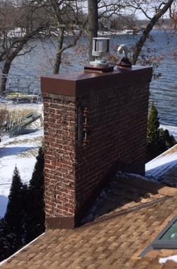 Chimney Cap Install - AFTER