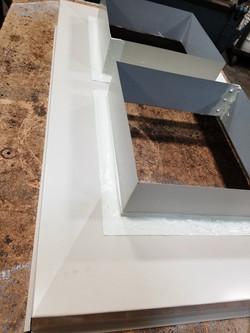 Chimney Cap - Square Holes - Bone White Steel