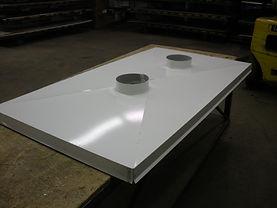 2-hole Chimney Cap - Bone White Steel
