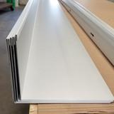 """""""L"""" Angle Hemmed - Bone White Steel"""