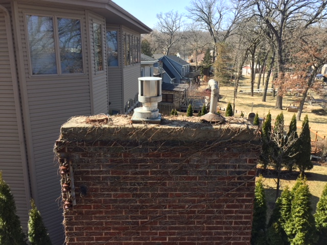 Chimney Cap Install-BEFORE