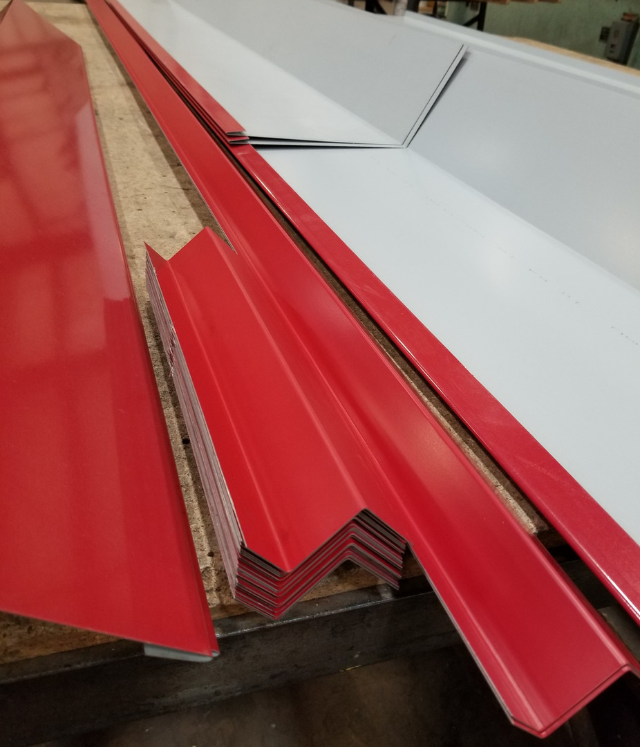 Various Flashings - Colonial Red Steel