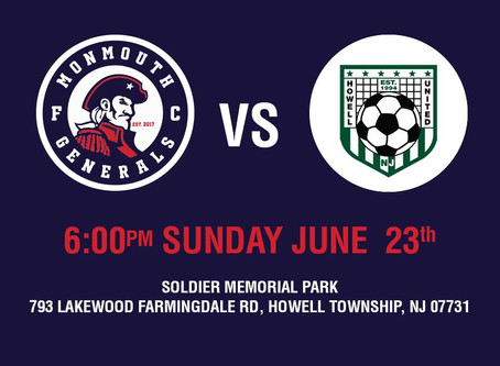 Generals Hit The Road For First Match In Garden State Soccer League Summer League