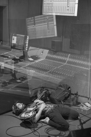 Julian having a mid-take bass stretch.
