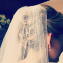 Cheeky veil shot of sundays bride #wedding #bride #hairstyle