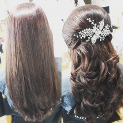 _brookfieldbarn #bridesmaidhair today #weddingday #hair #halfup #weddinghair #weddingideas #sussexbr