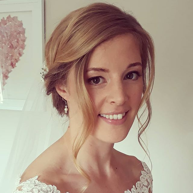 Stunning Sarah, #fridaybride Makeup by _emmalilyartistry #weddingideas #bride #hairupideas #hairup #