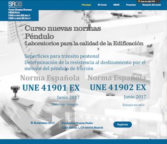 Curso 08-11-17 Nuevas Normas españolas Péndulo UNE 41901:2017 EX y UNE 41902:2017 EX para Laboratori