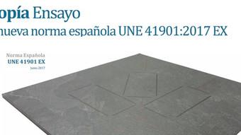 Isotropía ensayo con la nueva norma española UNE 41901:2017 EX