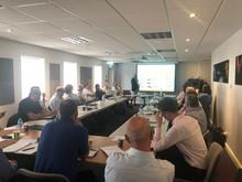 Reunión de la UKSRG en la sede de Forbo en UK con ponencia de Juan Iriarte y Marcel Engels.