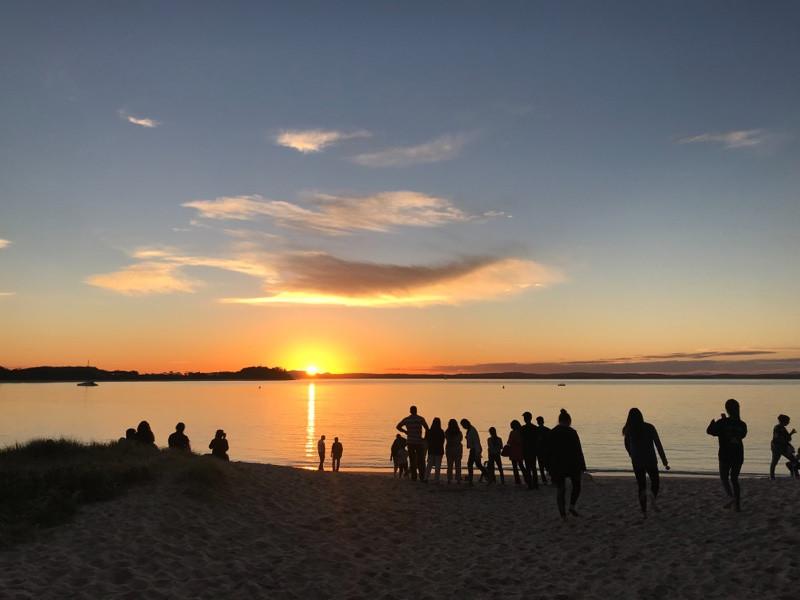 Beach Sunset Nelson Bay   Vege4Love