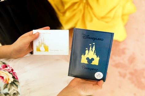 Custom designed Disney themed passports and autograph cards