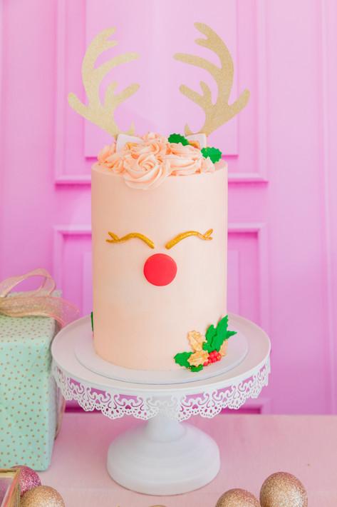 Reindeer Cake - Sweetly Bakrd Perth