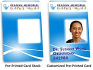 Pre-Printed Plastic Cards