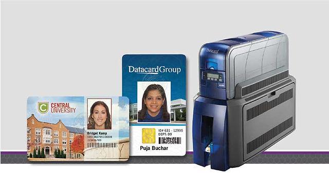 Entrust Datacard SD460 Duplex Plastic ID Card Printer with Inline Card Laminator