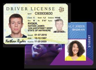 Entrust CR803 Retransfer Sample ID Cards