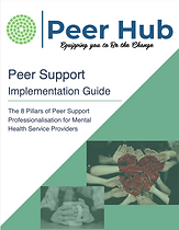 Peer Hub CIC Peer Support Professionalisation Guide 8 Pillars of Peer Support Front Page