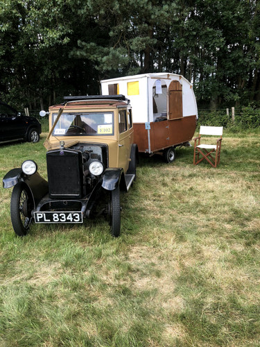 Car and Caravan at Wiston Steam Rally