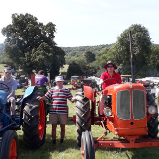 Tom Hobbs and grandsons on their tractors 2019. Taken by Danielle Perry.