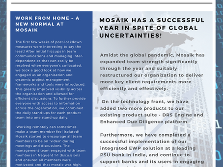 Mosaik Analytic's 2020 rewind, thank you for your support!