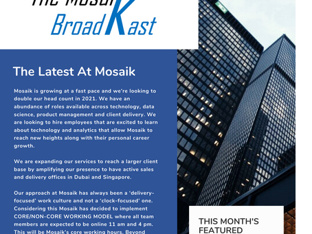 New Year. New Innovations. New Stories. Browse through to catch up on Mosaik's quarterly roundup!
