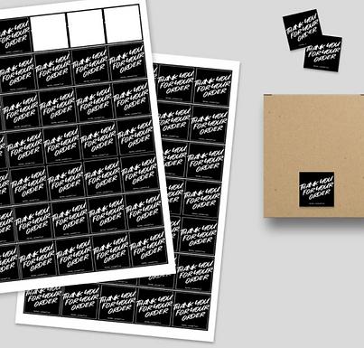 Custom Square Sticker Printing (3cm, 4cm)