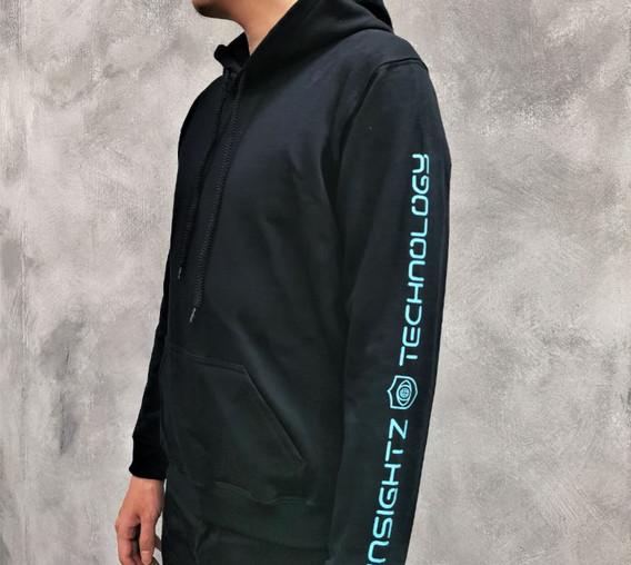 Custom Black Hoodie with Sleeve Printing - butterprints.com.sg.JPG