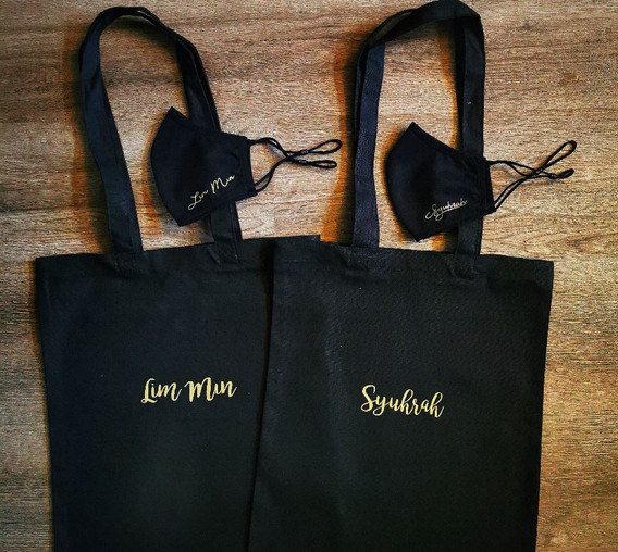 Customised Anti-bacterial Masks and Canvas Tote Bags with Gold Names.jpg