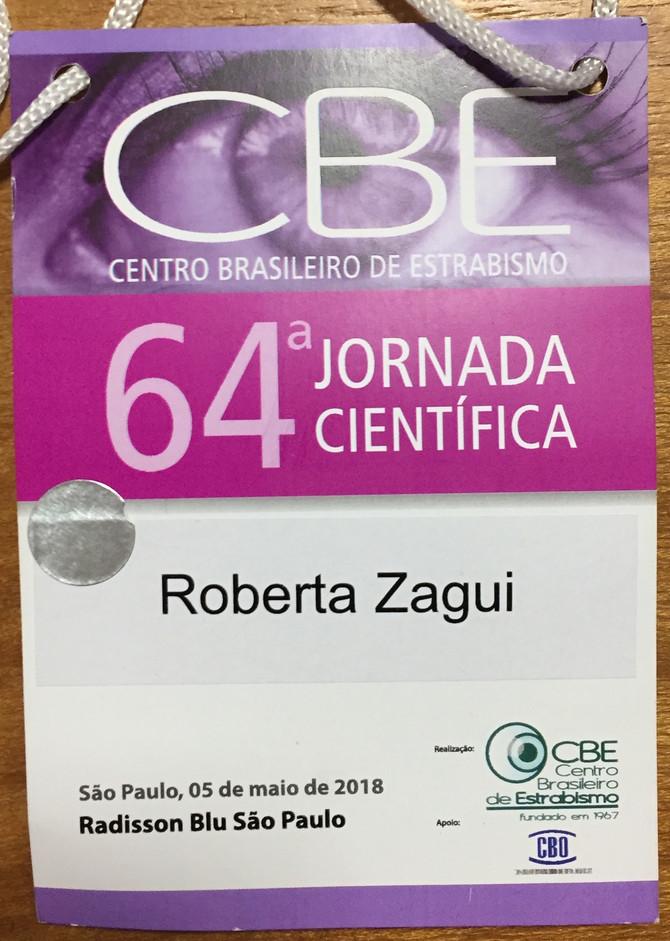 64 Jornada Científica Centro Brasileiro de Estrabismo (CBE) - 2018