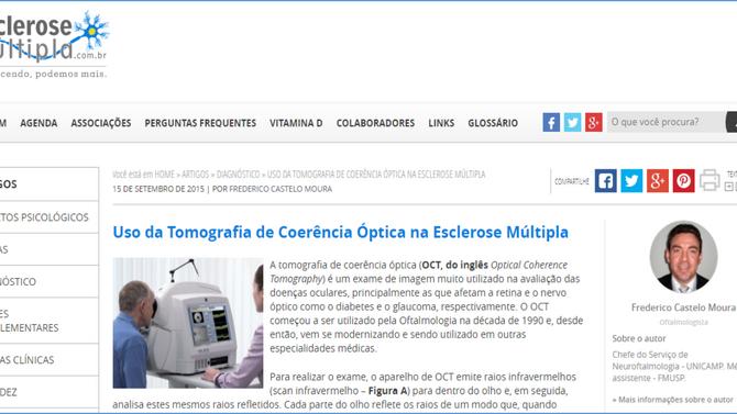 Uso da Tomografia de Coerência Óptica na Esclerose Múltipla